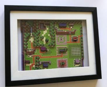 Legend of Zelda  - Links Awakening Diorama Shadow Box
